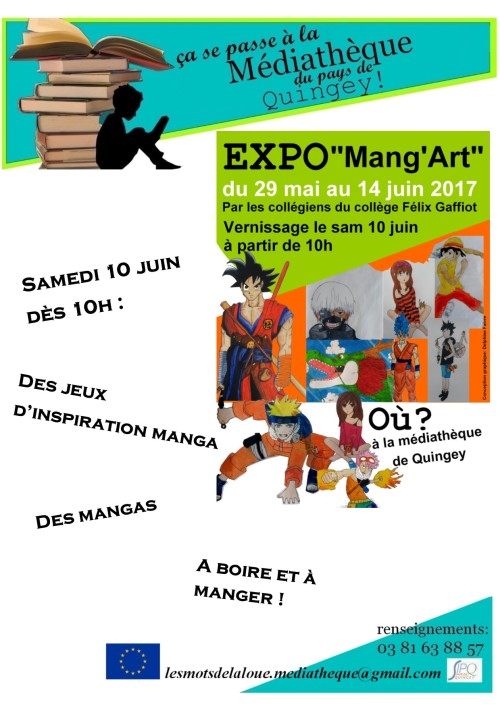 affiche expo manga